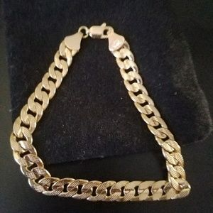 Diamond cut Cuban bracelet